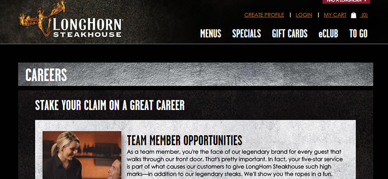 longhorn steakhouse job application